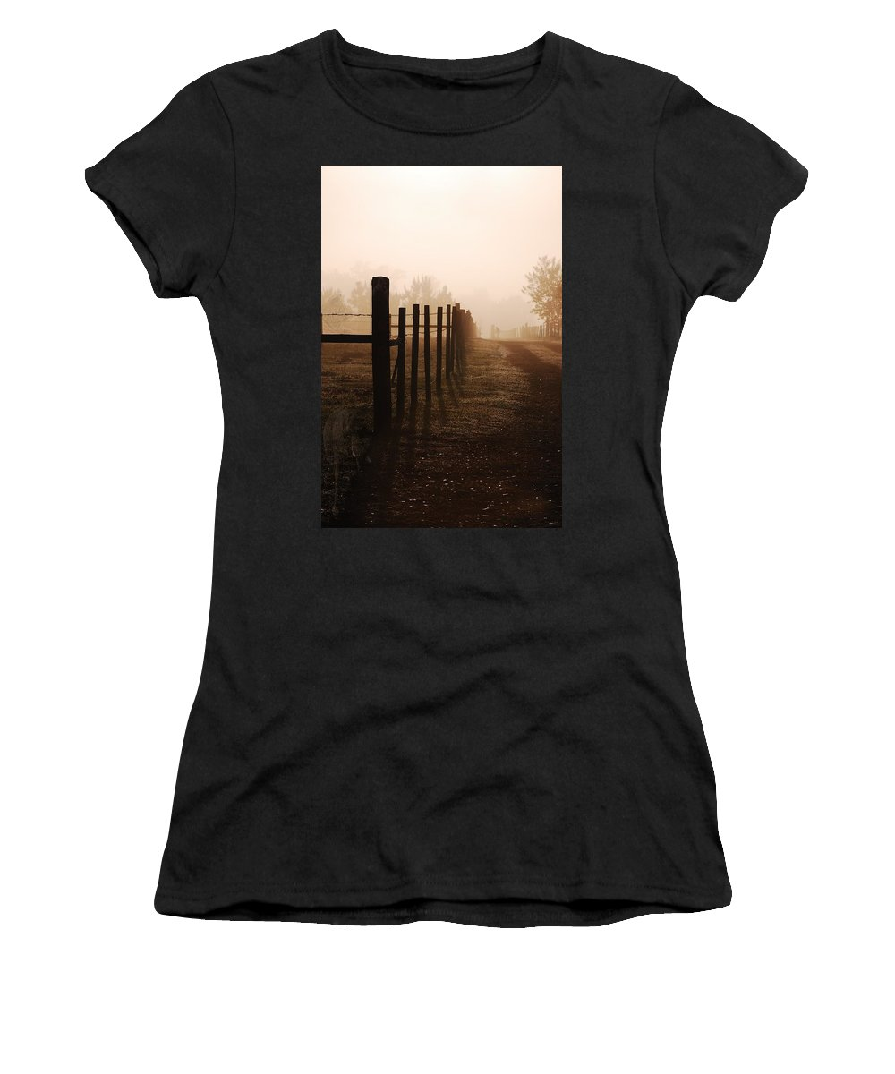 Mist Women's T-Shirt (Athletic Fit) featuring the photograph Will They Be Mist by Robert Meanor