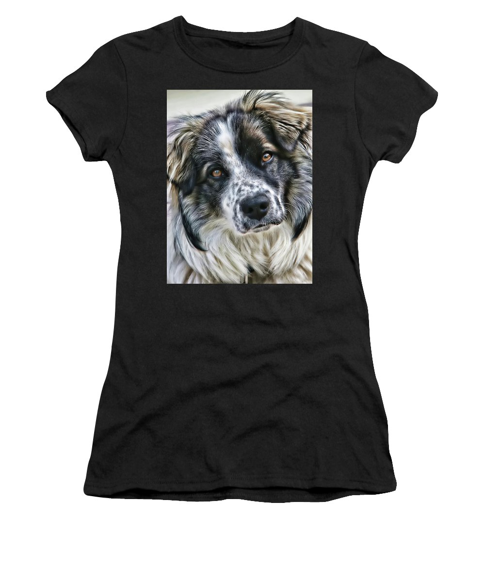 Animal Women's T-Shirt (Athletic Fit) featuring the photograph Will You Be My Friend by Rhonda McDougall