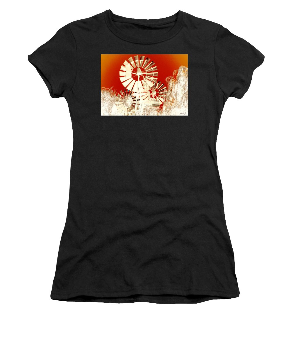 Landscapes Women's T-Shirt featuring the photograph Wind In The Willows by Holly Kempe