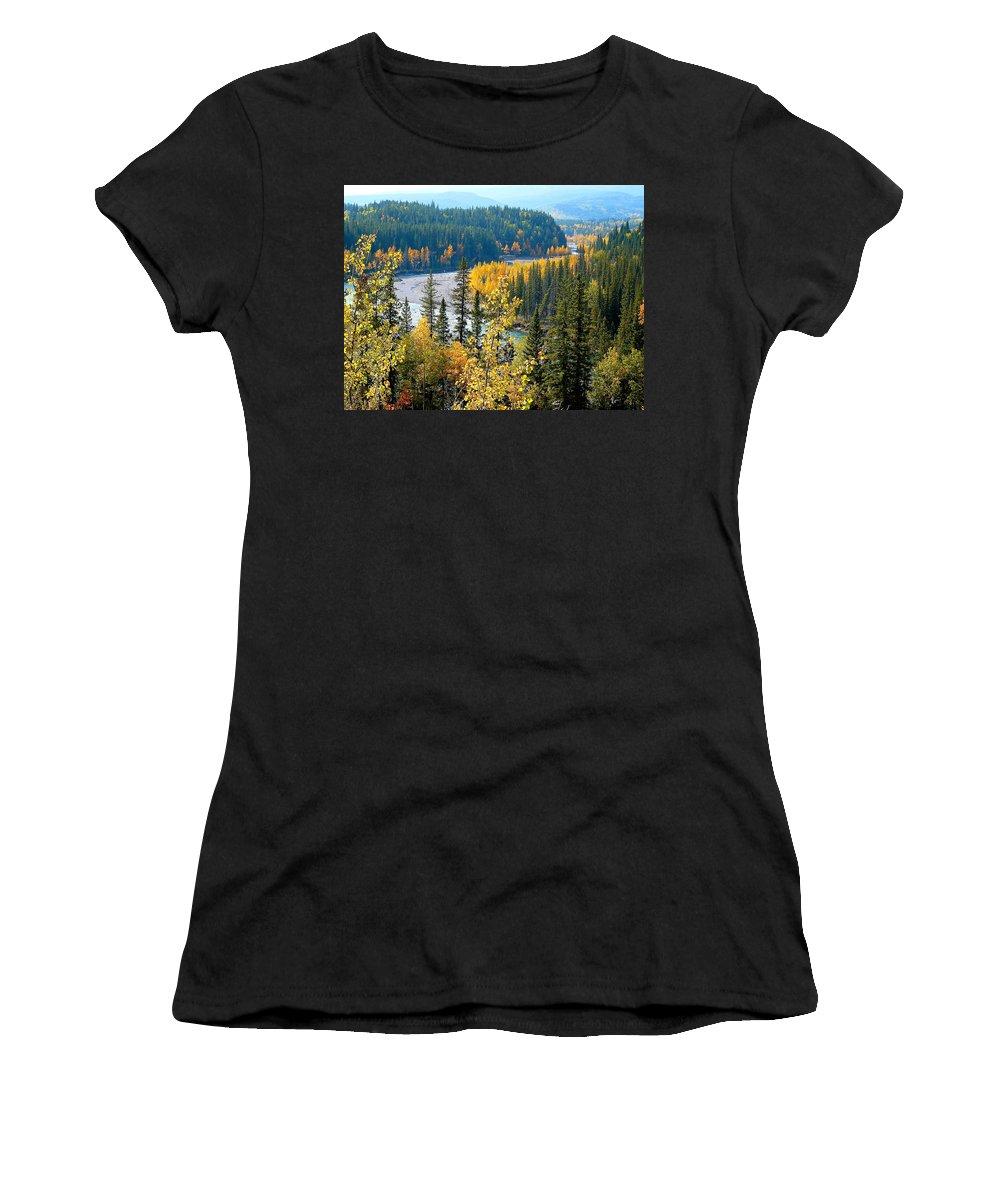Landscape Women's T-Shirt featuring the photograph Winding Creek by Lisa Knechtel