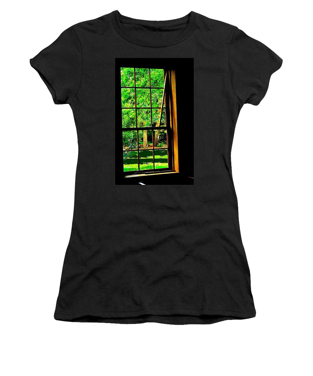 Window Women's T-Shirt (Athletic Fit) featuring the photograph Window To My World by Ian MacDonald