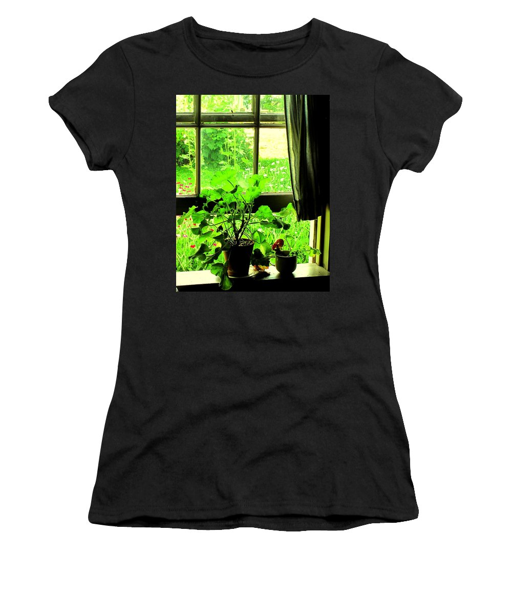 Pioneer Women's T-Shirt (Athletic Fit) featuring the photograph Window To The World by Ian MacDonald