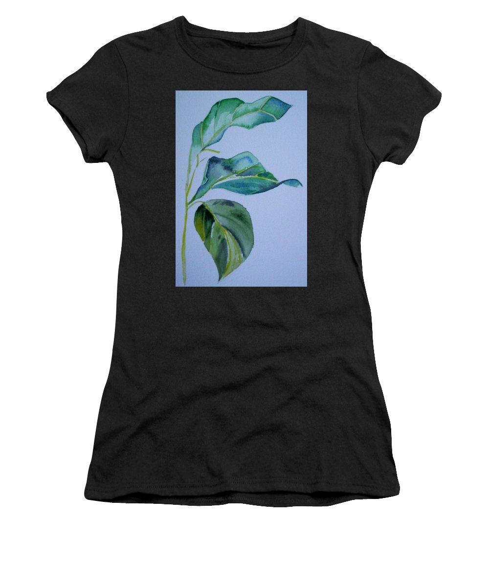 Nature Women's T-Shirt (Athletic Fit) featuring the painting Window View by Suzanne Udell Levinger
