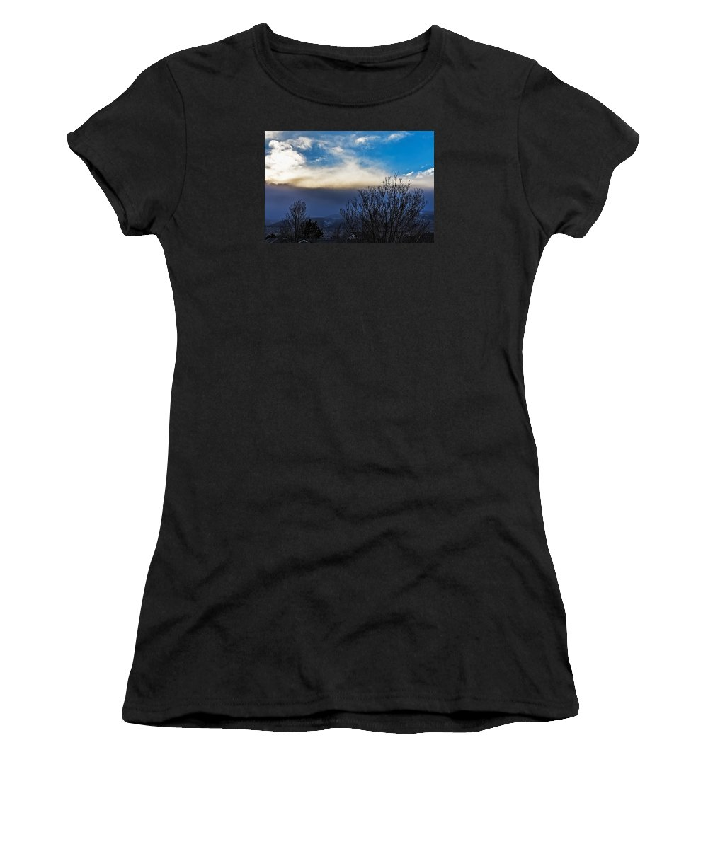 Nature Women's T-Shirt featuring the photograph Windstorm by Nancy Marie Ricketts