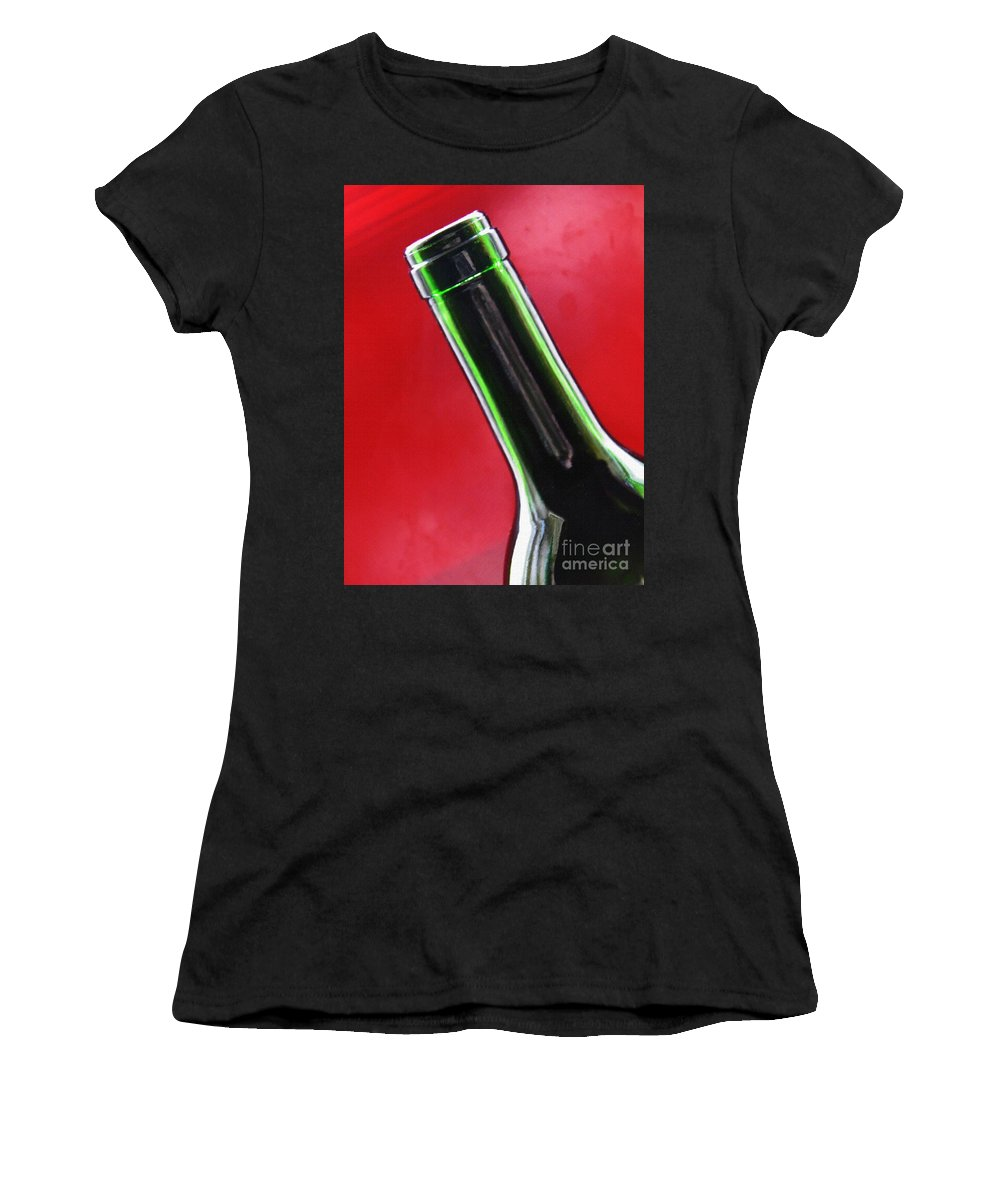 Wine Women's T-Shirt (Athletic Fit) featuring the photograph Wine Bottles 8 by Sarah Loft