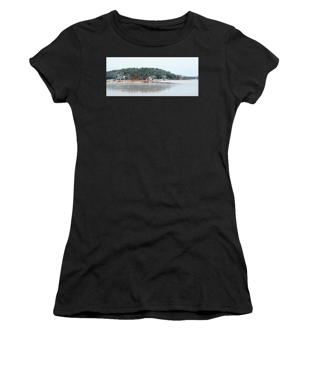 Island Women's T-Shirt (Athletic Fit) featuring the photograph Winter 2 by Esko Lindell