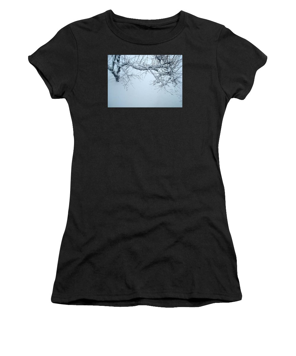 Nature Women's T-Shirt (Athletic Fit) featuring the photograph Frozen by Nelson F Martinez