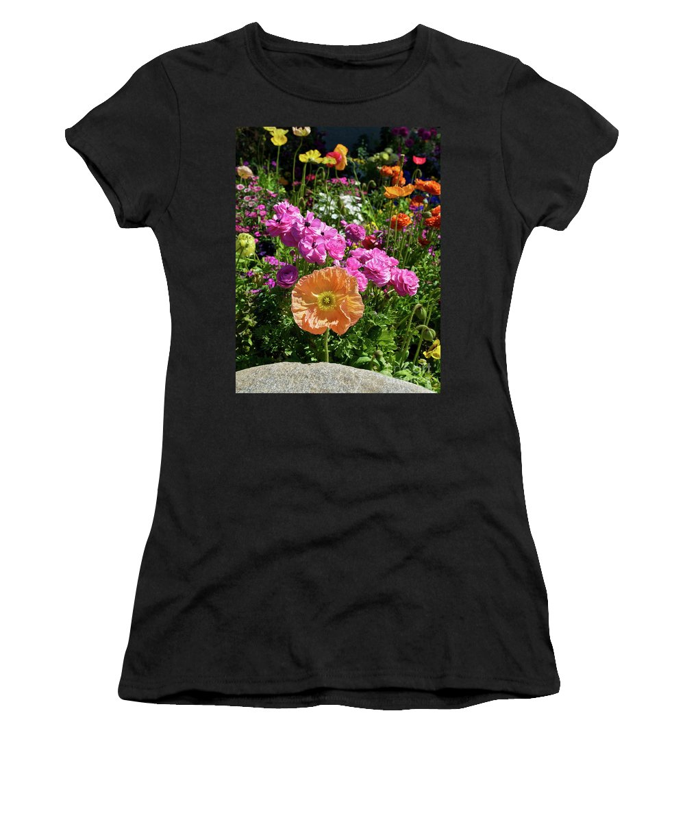 Flower Women's T-Shirt (Athletic Fit) featuring the photograph Winter Flowers by Gwyn Newcombe