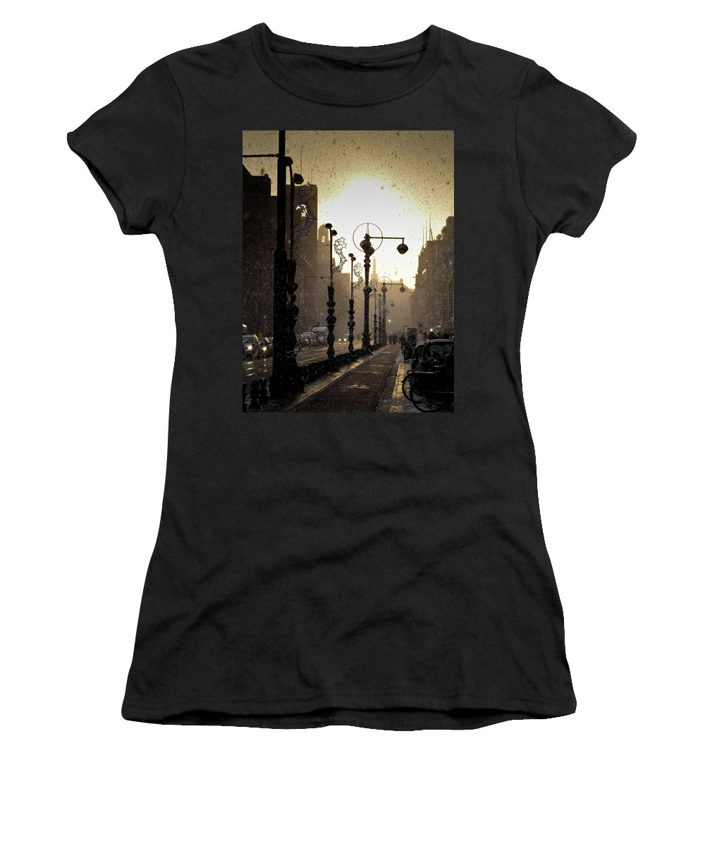Winter Women's T-Shirt (Athletic Fit) featuring the photograph Winter In Amsterdam-2 by Casper Cammeraat