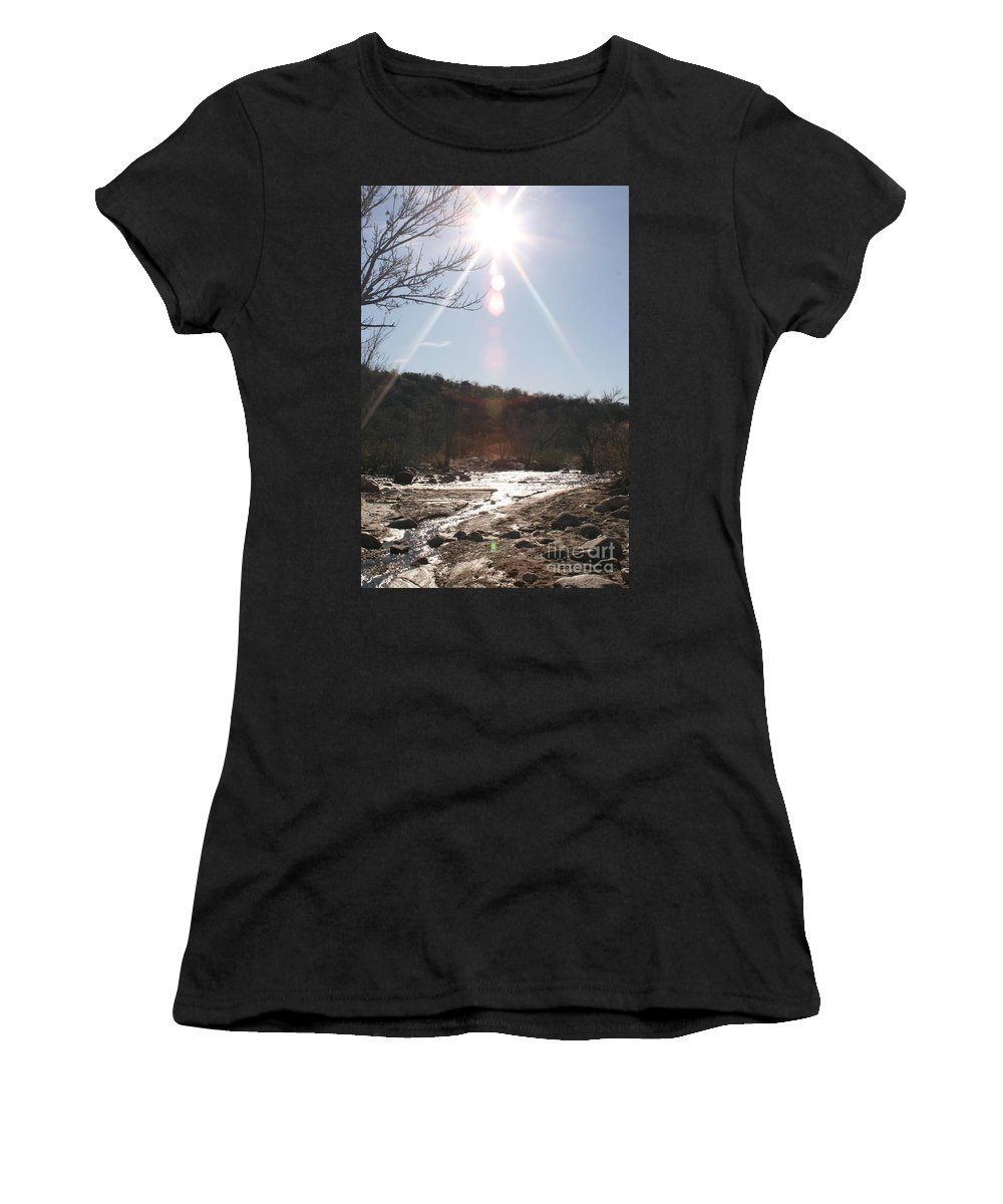 Winter Women's T-Shirt (Athletic Fit) featuring the photograph Winter Light by Nadine Rippelmeyer