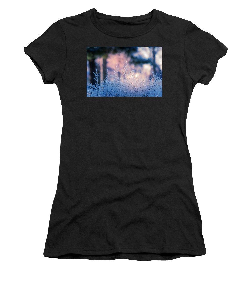 Winter Women's T-Shirt featuring the photograph Winter Morning Light by Allin Sorenson