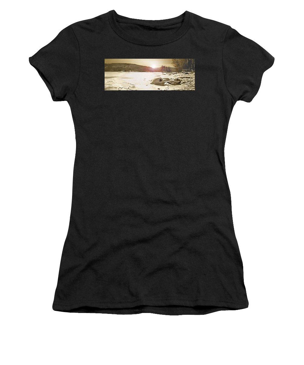 Landscape Women's T-Shirt featuring the photograph Winter Sun by Steve Karol
