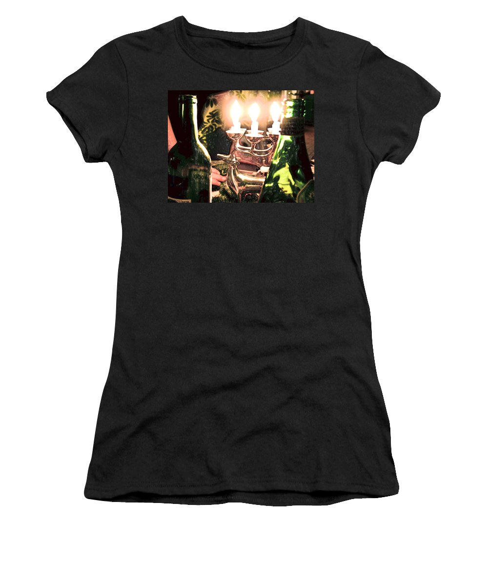 Winter Women's T-Shirt (Athletic Fit) featuring the photograph Winter Wine. by Robert Ponzoni