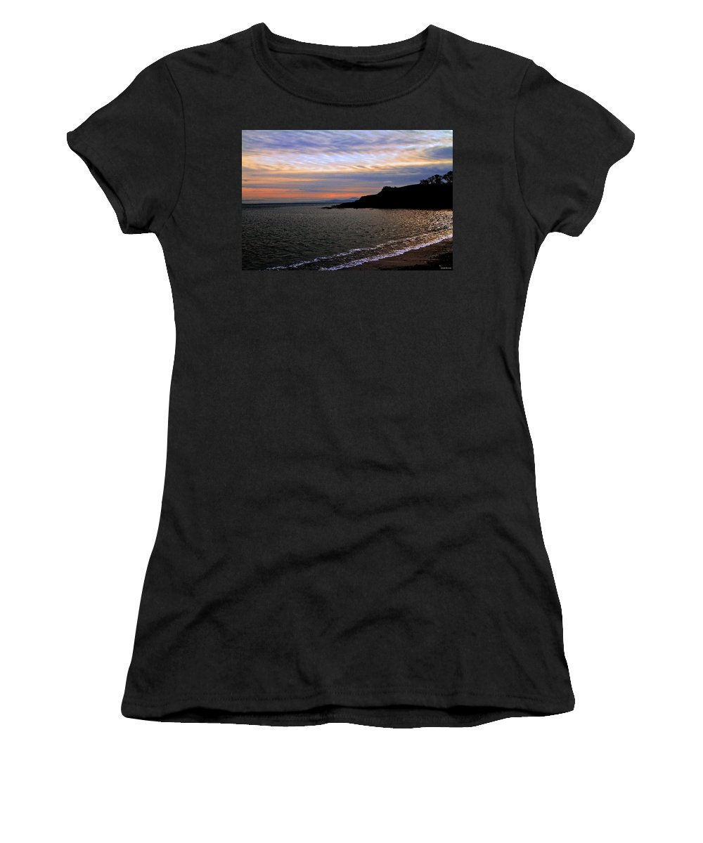 Ocean Women's T-Shirt (Athletic Fit) featuring the photograph Winter's Beachcombing by Joseph Noonan
