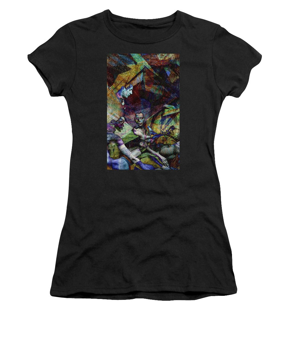 Pattern Women's T-Shirt (Athletic Fit) featuring the digital art Conditional by Ryan Releford