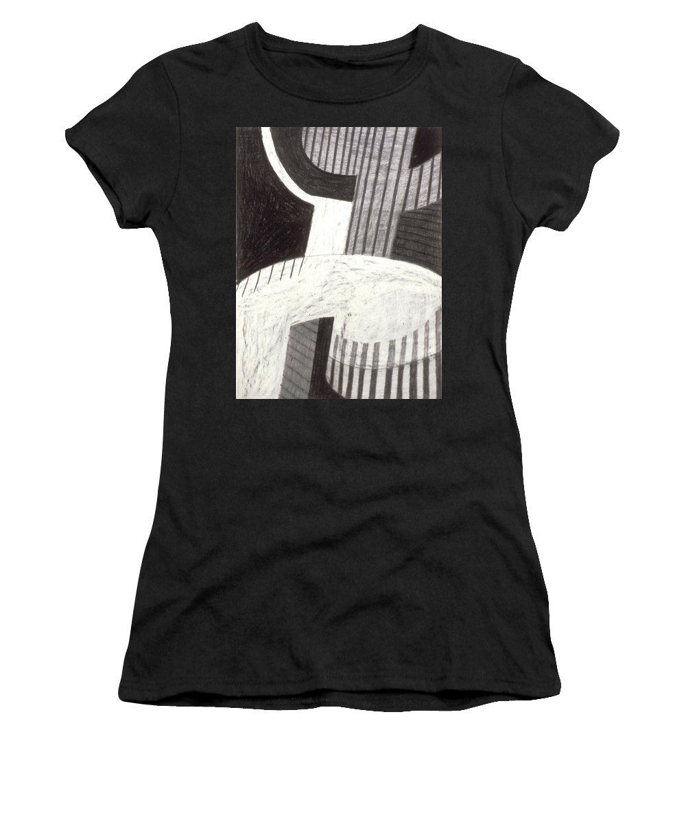 Color Field Women's T-Shirt featuring the drawing Wondering 2 by Rod Whyte