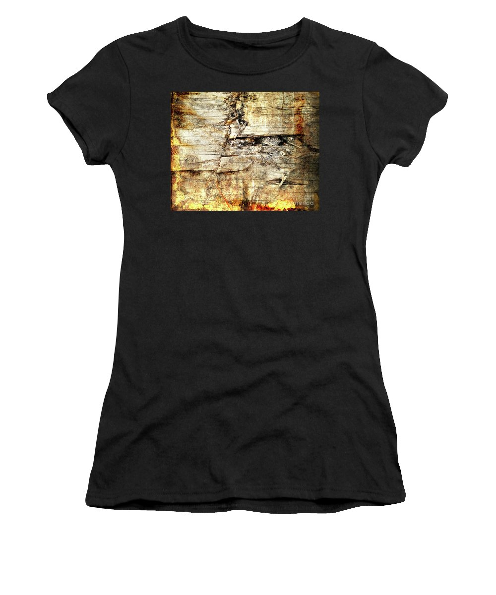 Wood Women's T-Shirt (Athletic Fit) featuring the digital art Wood You? by Deborah Nakano