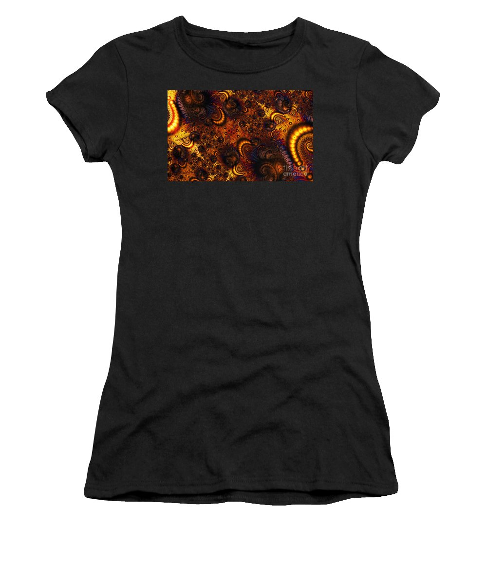 Clay Women's T-Shirt (Athletic Fit) featuring the digital art Worm Infestation by Clayton Bruster