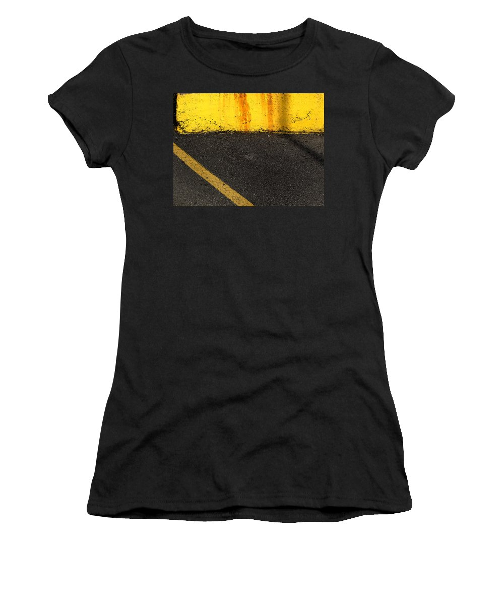 Yellow Women's T-Shirt (Athletic Fit) featuring the photograph Yellow And Grey Wc by Lyle Crump