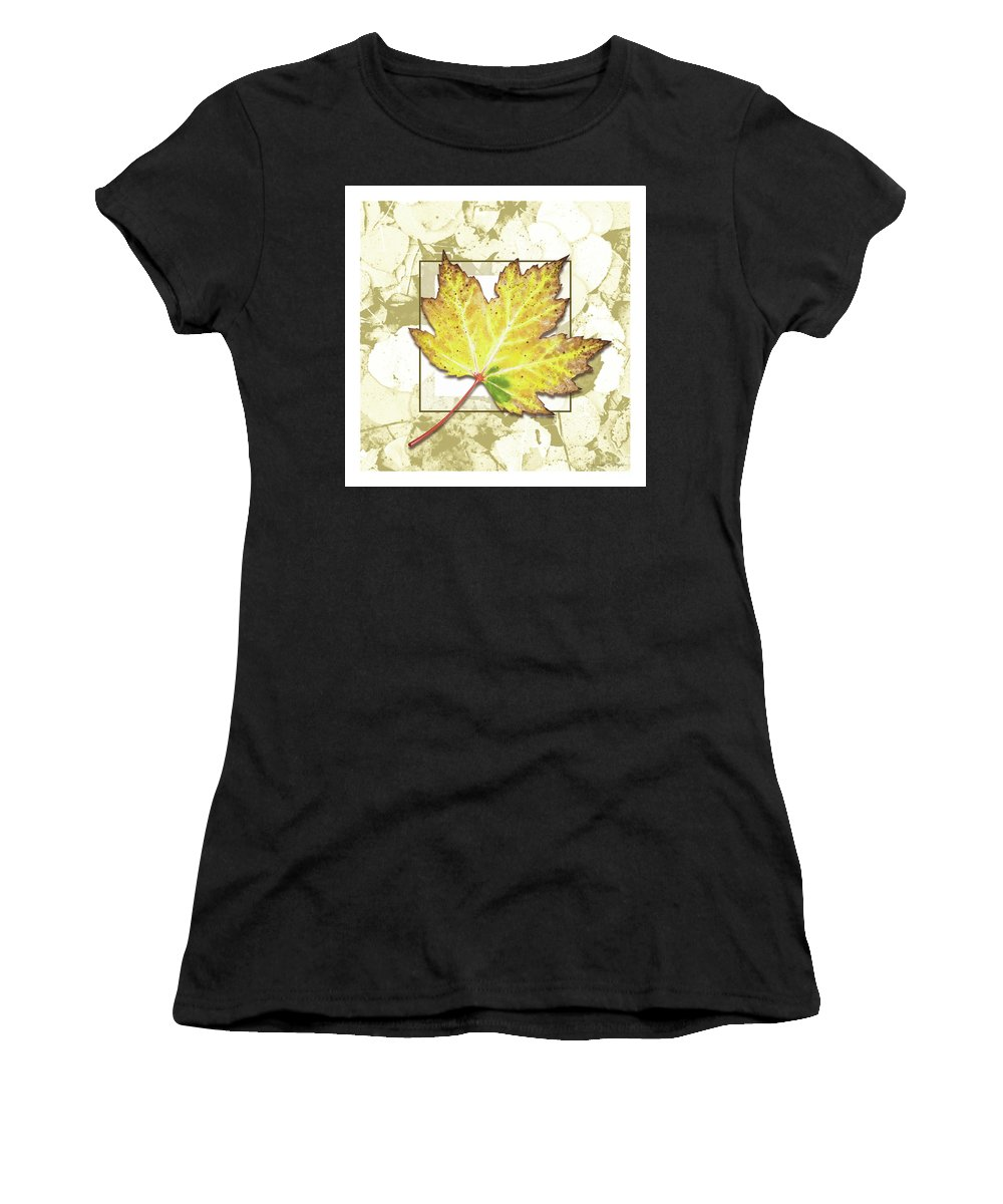 Jon Q Wright Women's T-Shirt featuring the painting Yellow Fall by Jon Q Wright