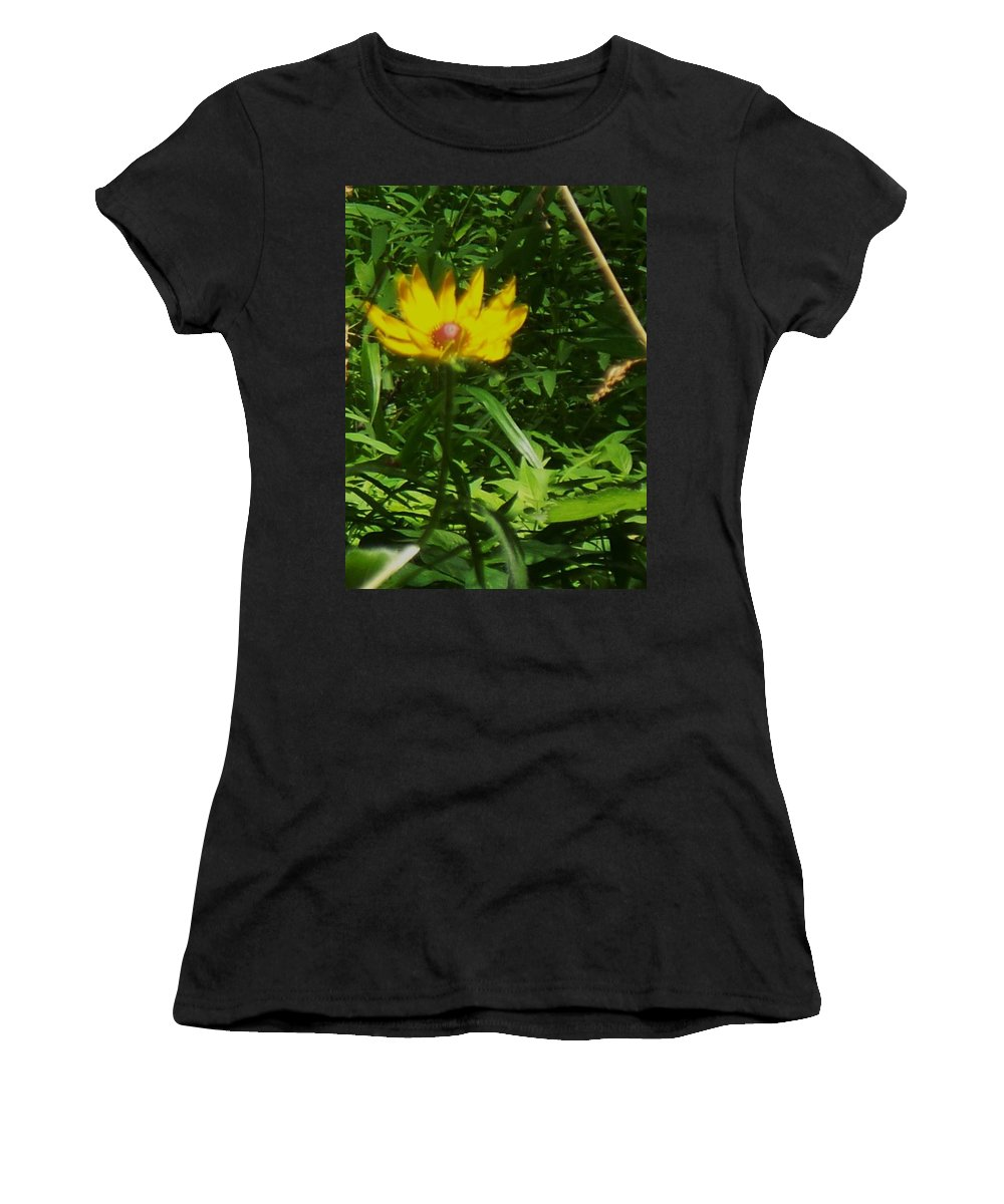 Flower Women's T-Shirt (Athletic Fit) featuring the photograph Yellow Flower by Eric Schiabor