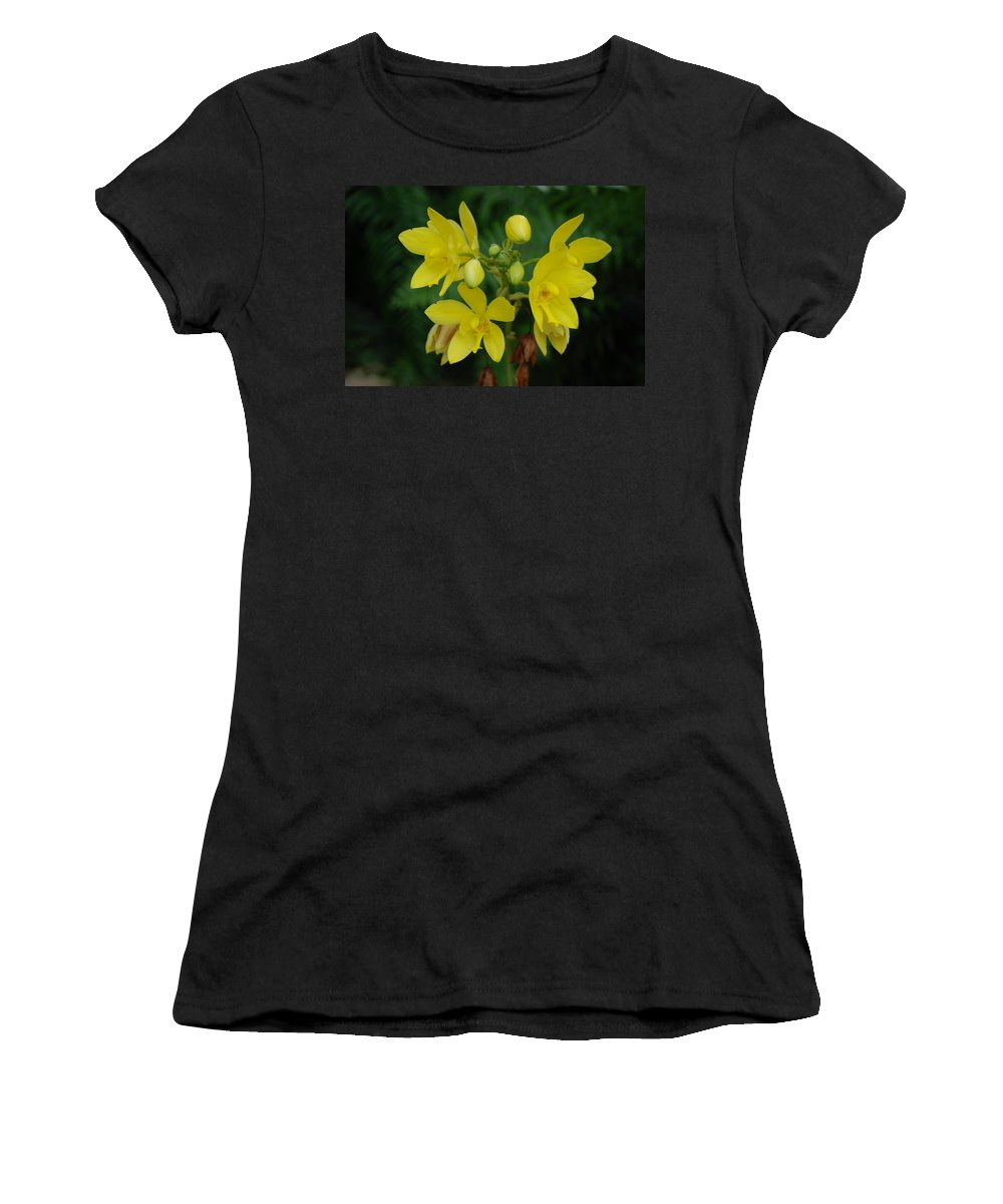 Macro Women's T-Shirt (Athletic Fit) featuring the photograph Yellow Flower by Rob Hans