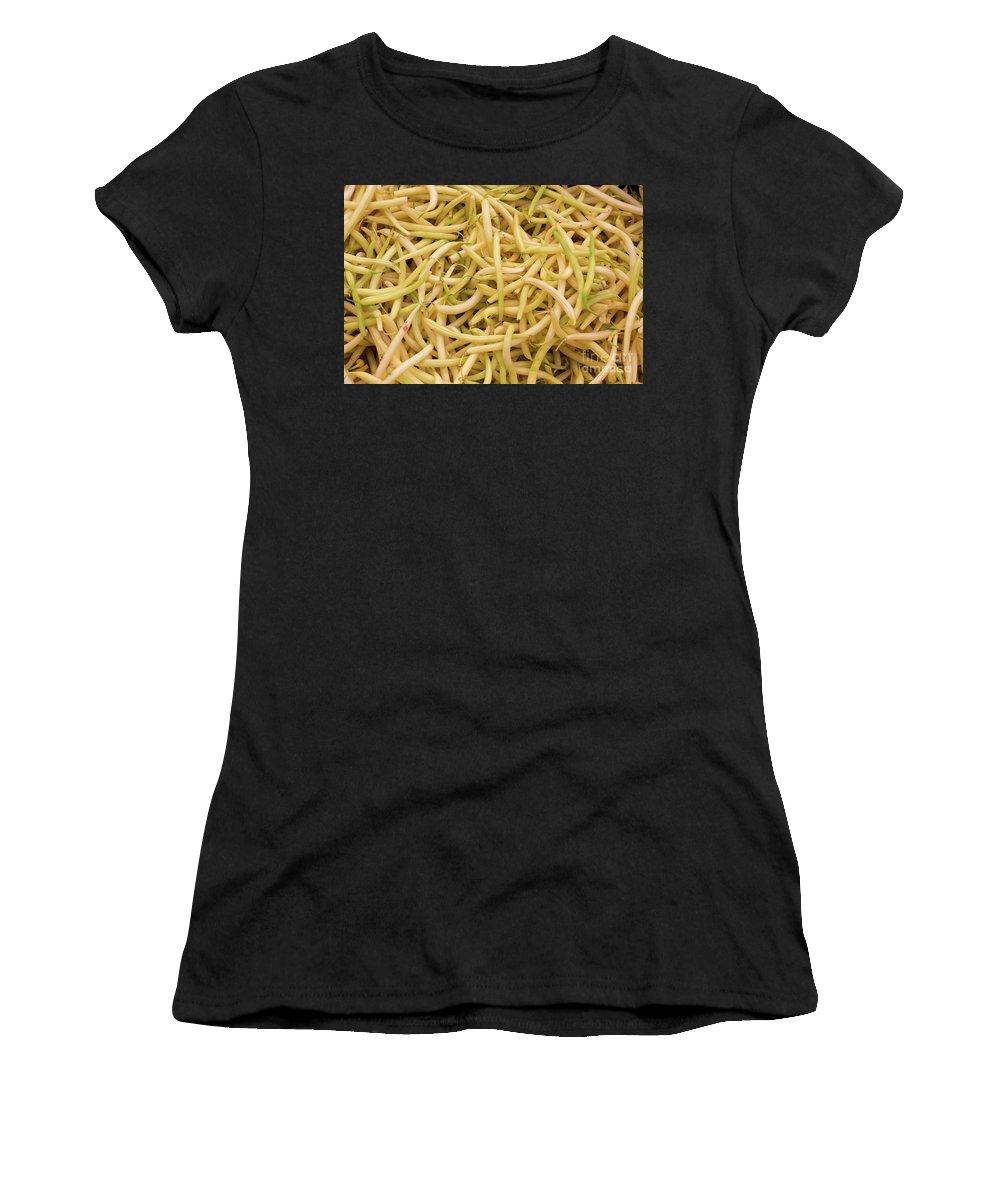 Wax Bean Women's T-Shirt featuring the photograph Yellow Wax Beans by Bruce Block