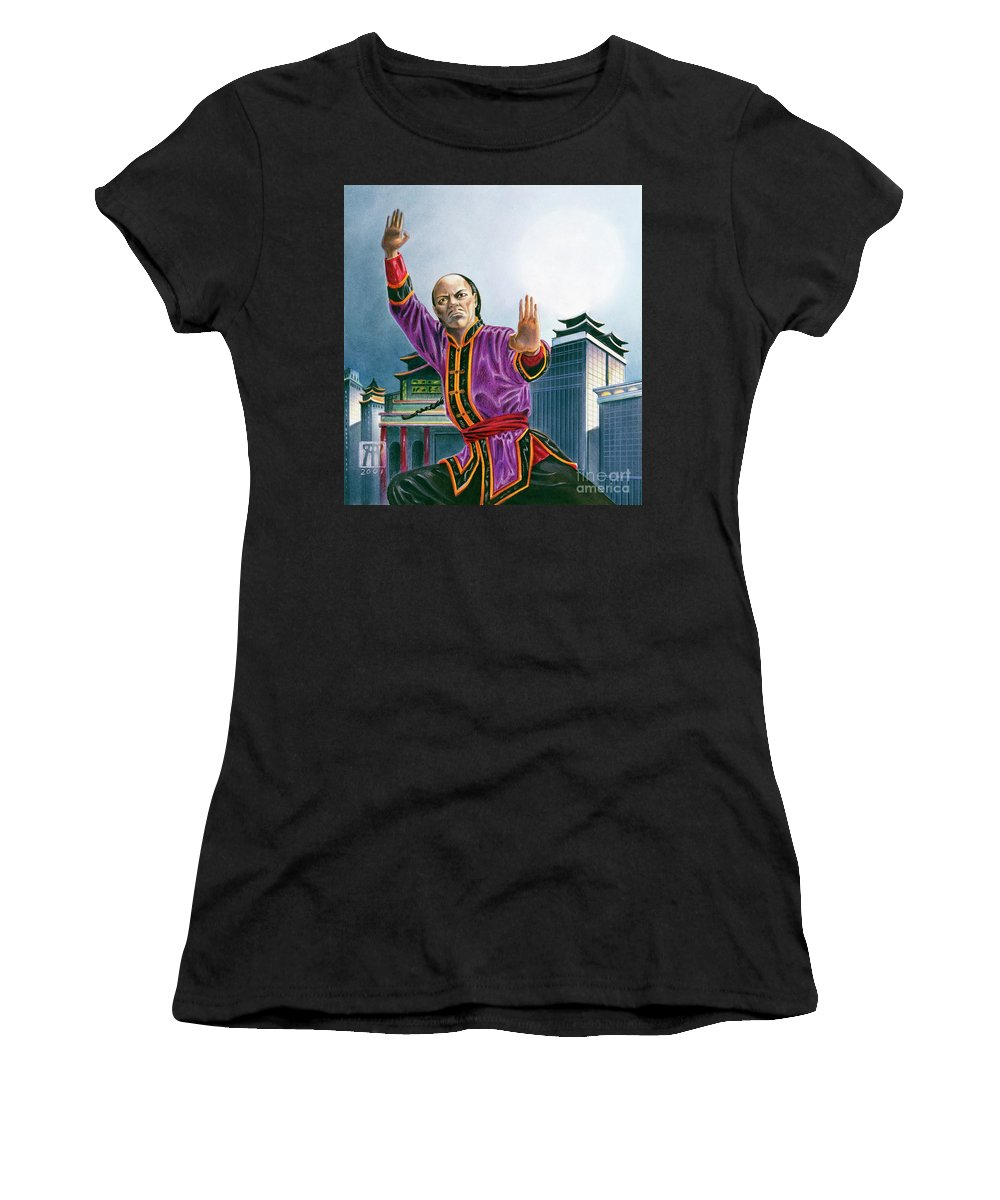Oriental Women's T-Shirt featuring the painting Yen Song by Melissa A Benson