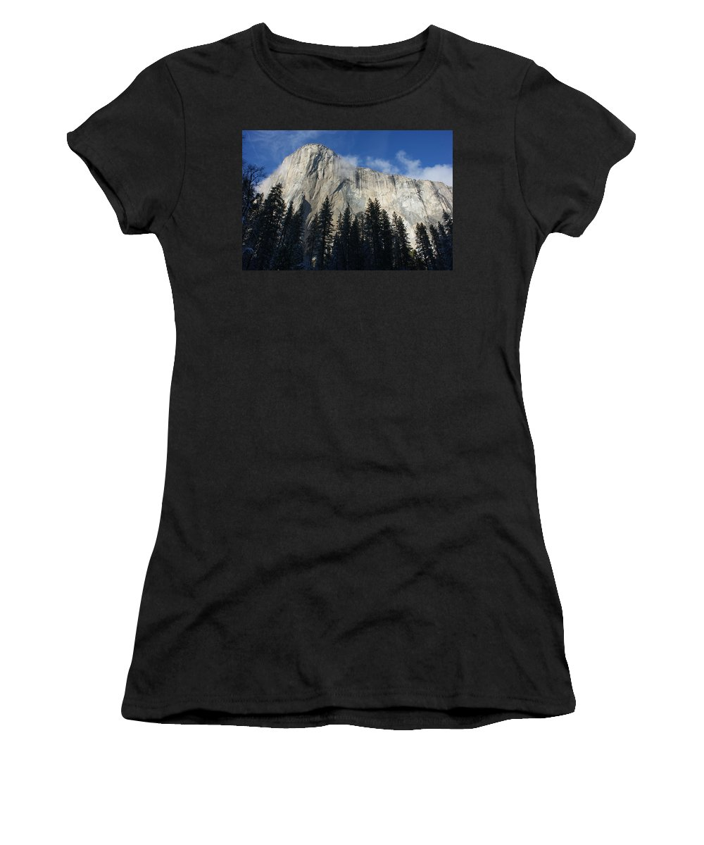 Yosemite Women's T-Shirt (Athletic Fit) featuring the photograph Yosemite Mountainside by Christine Jepsen