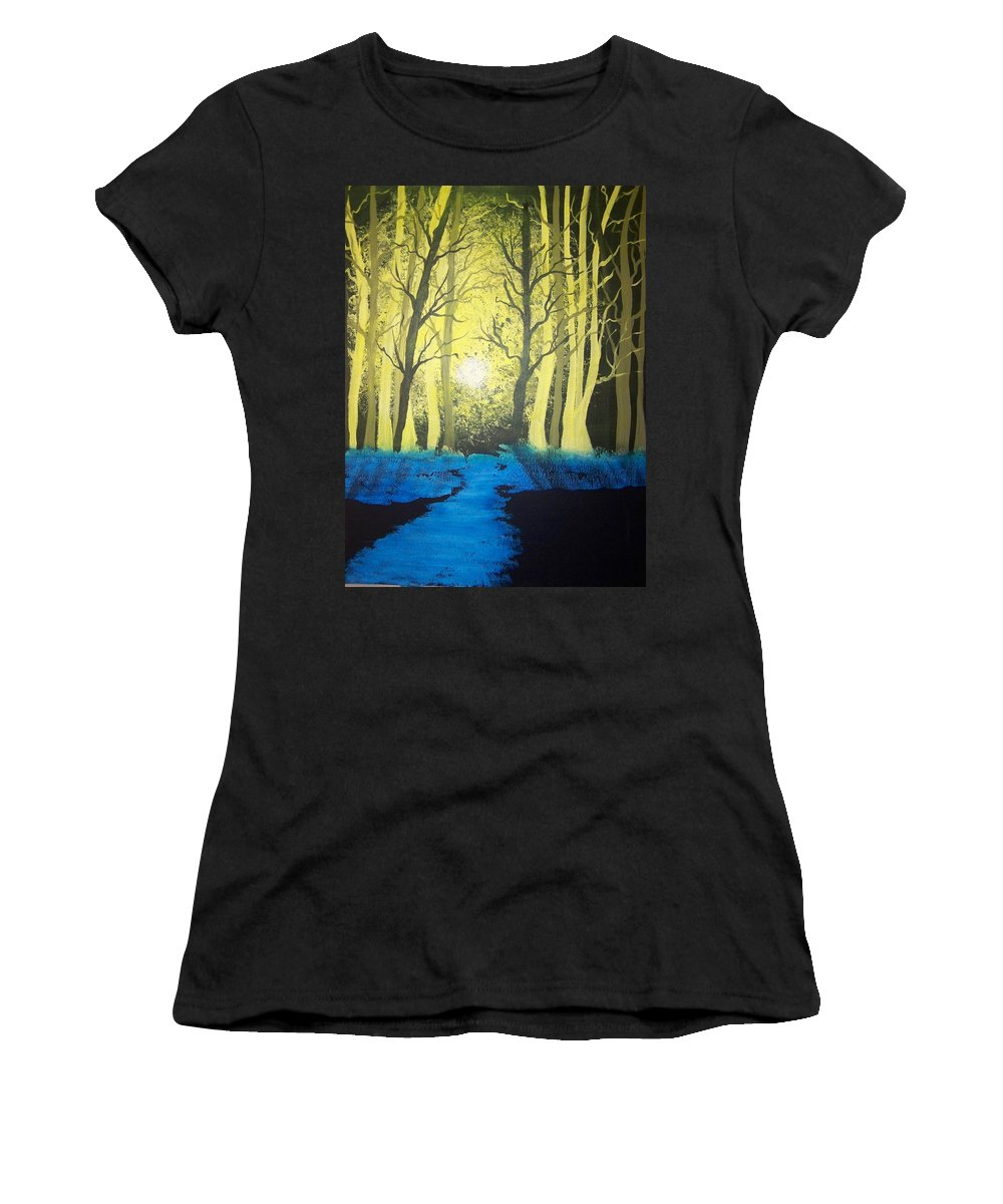 Forest Women's T-Shirt (Athletic Fit) featuring the painting You Cant See The Forest For The Trees by Laurie Kidd
