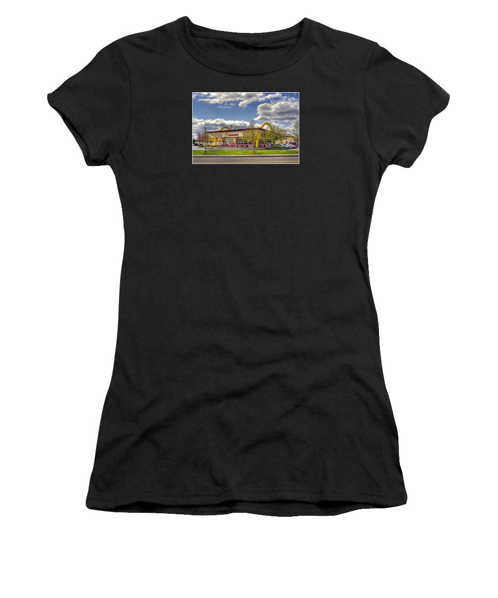 Mcdonald's Women's T-Shirt (Athletic Fit) featuring the photograph You Deserve A Break Today by Chris Anderson