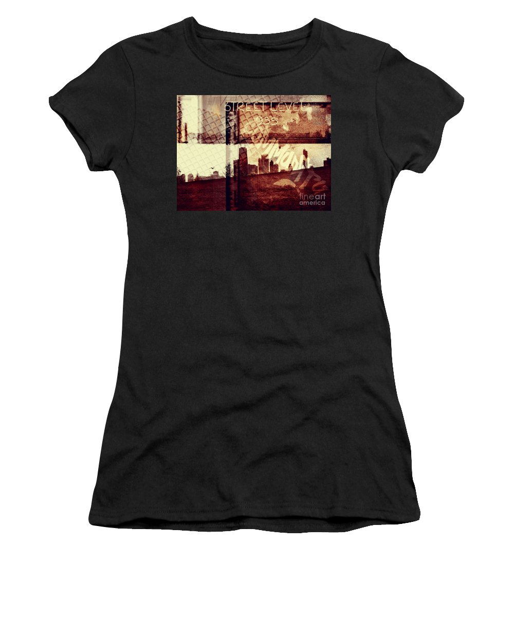 Chicago Women's T-Shirt (Athletic Fit) featuring the photograph You Held My Hand Softly Through The Humid Summer Streets by Dana DiPasquale