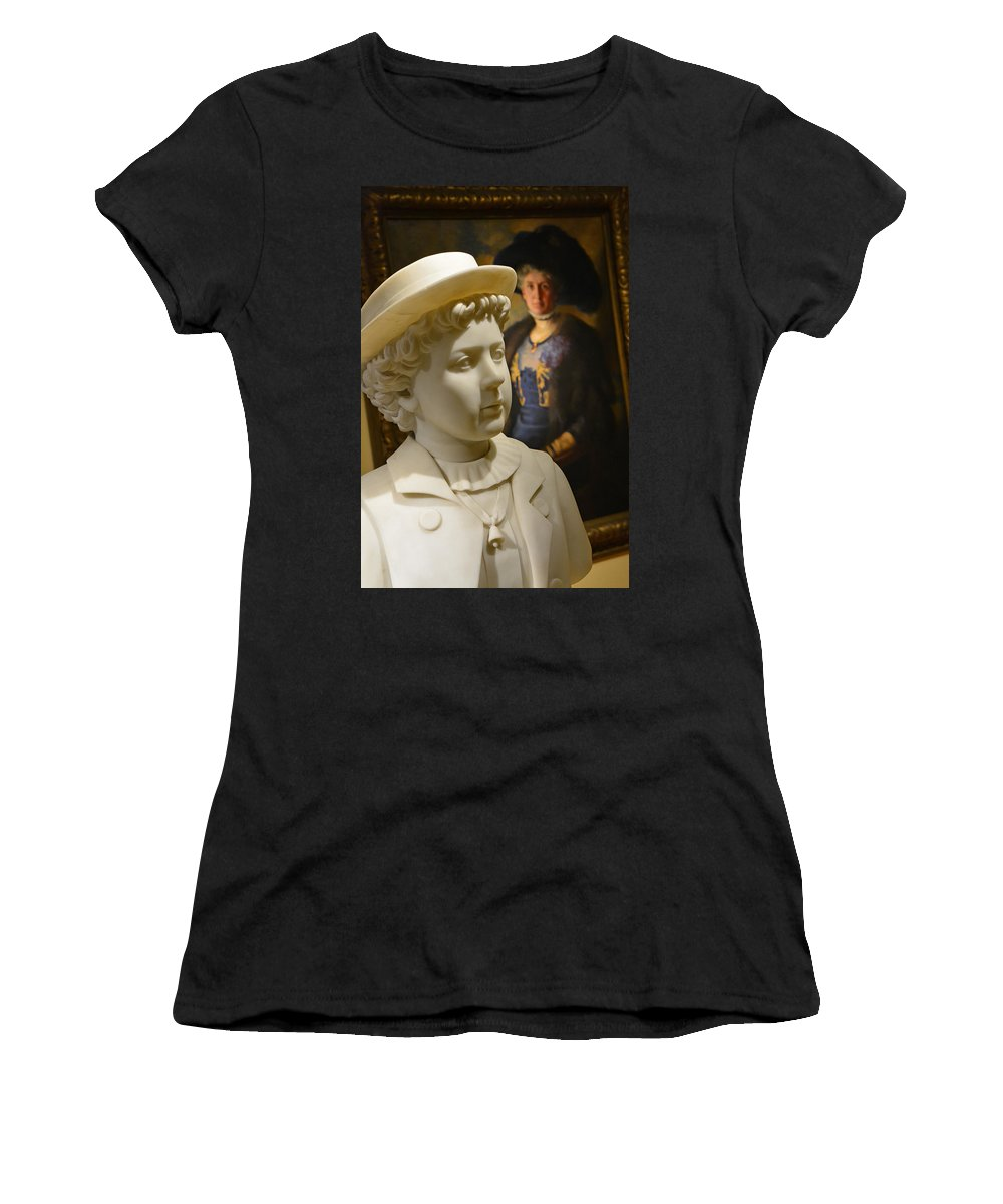 Boy Women's T-Shirt featuring the photograph Young Boy by Mike Martin