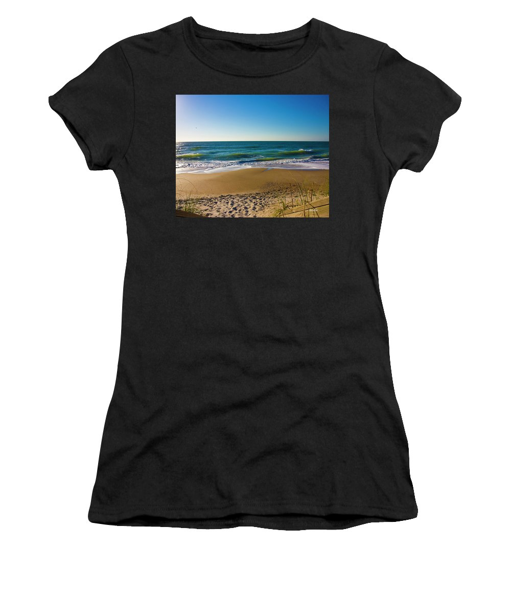 Beach Women's T-Shirt (Athletic Fit) featuring the photograph Your Beach Is Calling by Betsy Knapp