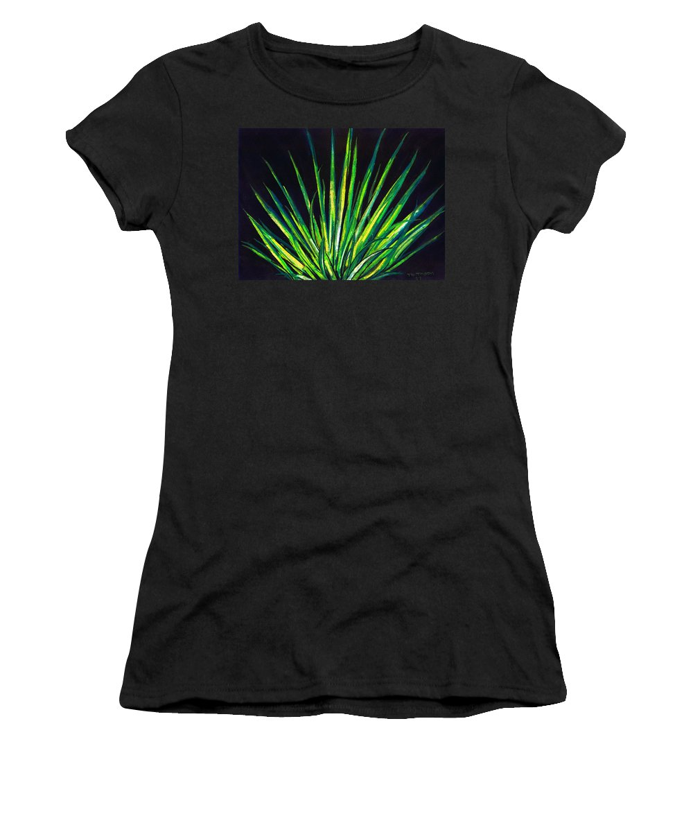 Yucca Women's T-Shirt featuring the drawing Yucca by Melvin Moon