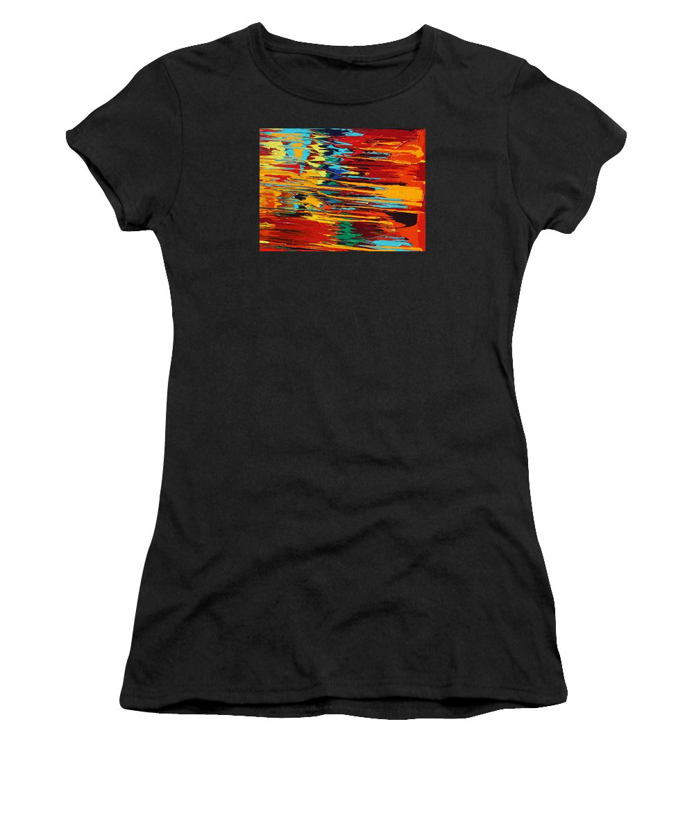 Fusionart Women's T-Shirt (Athletic Fit) featuring the painting Zap by Ralph White