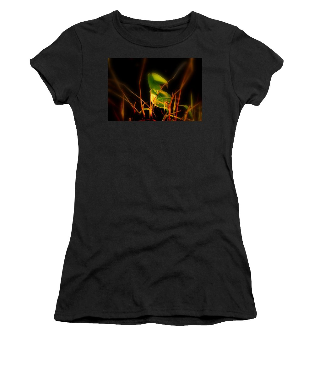 Zen Women's T-Shirt (Athletic Fit) featuring the photograph Zen Photography - Sunset Rays by Susanne Van Hulst