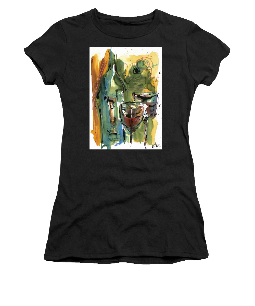 Wine Women's T-Shirt (Athletic Fit) featuring the painting Zin-findel by Robert Joyner