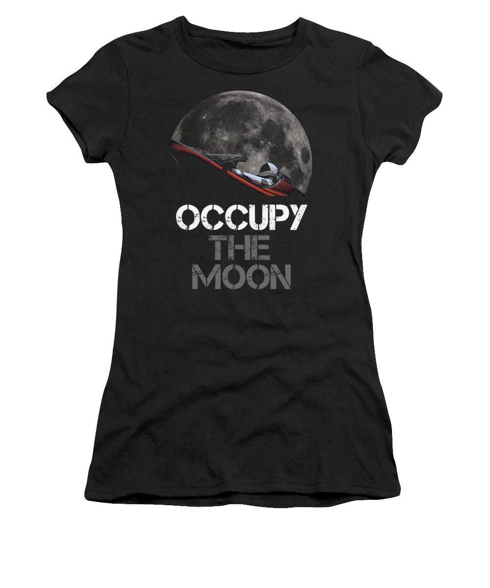 Dont Panic Women's T-Shirt featuring the photograph Occupy The Moon by Filip Schpindel