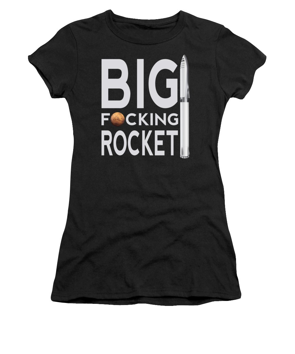 Bfr Women's T-Shirt featuring the digital art BFR Big Fucking Rocket by Filip Schpindel