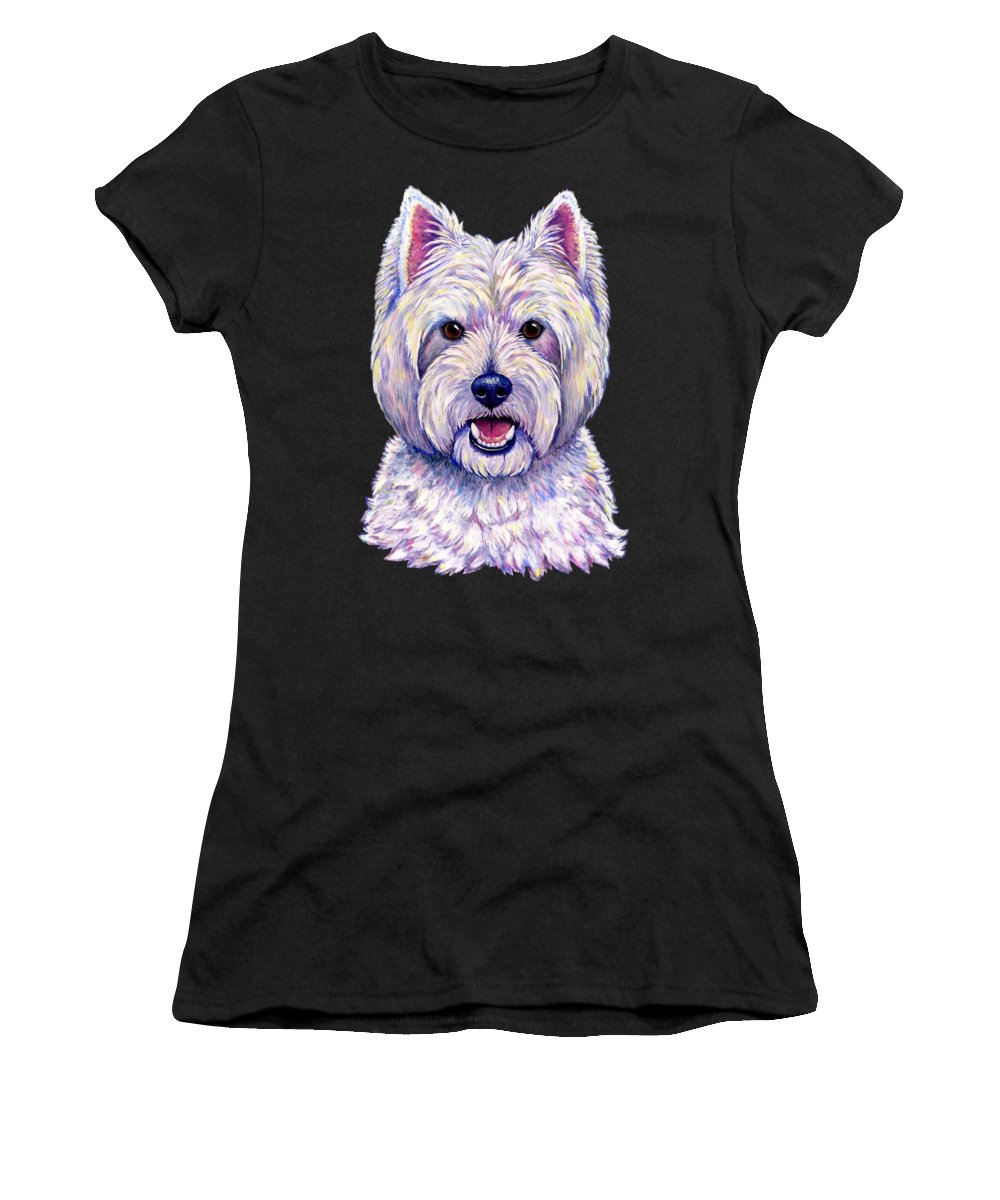 Westie Paintings Women's T-Shirts