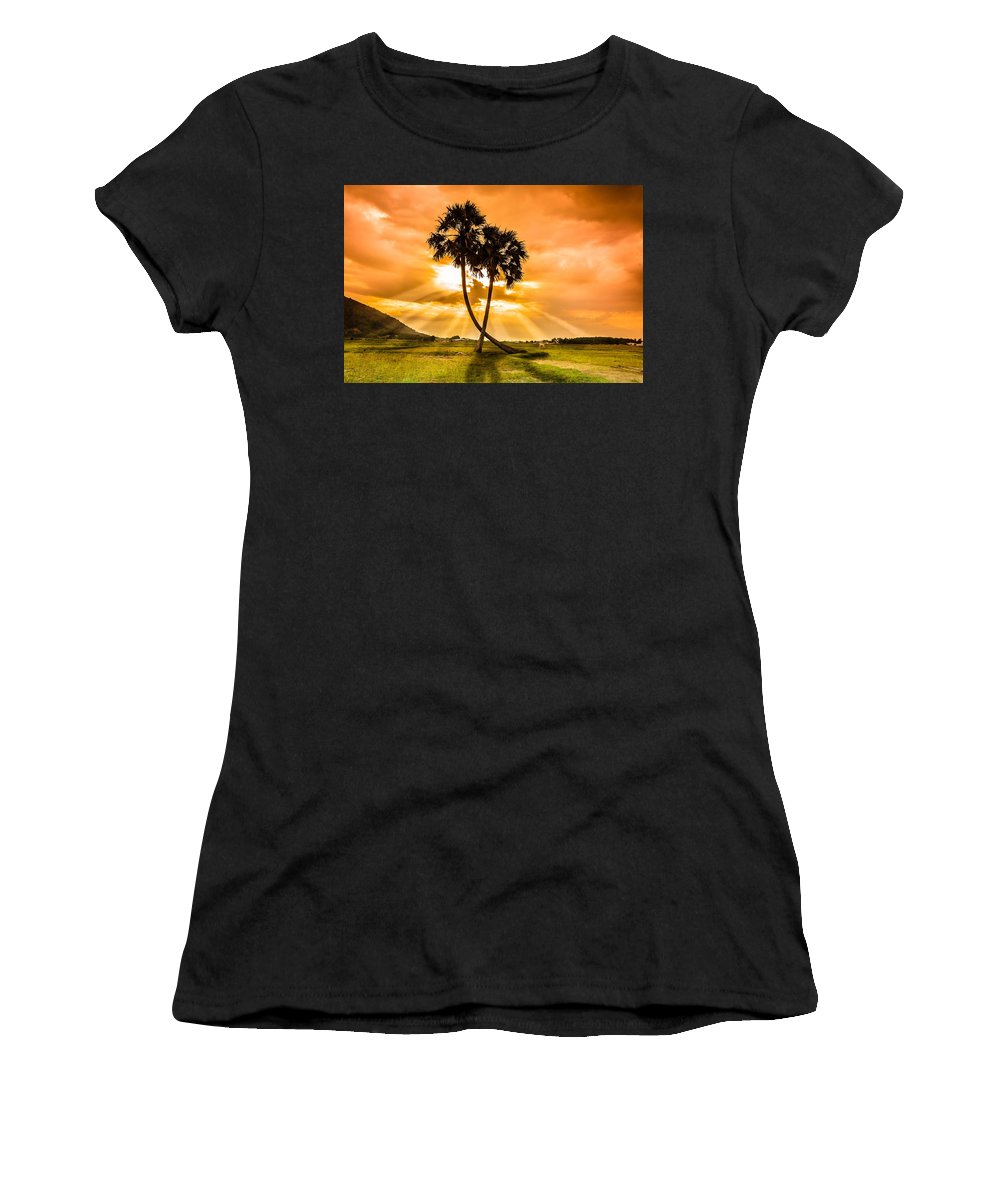 Love Women's T-Shirt featuring the photograph Couple by Lam Loi