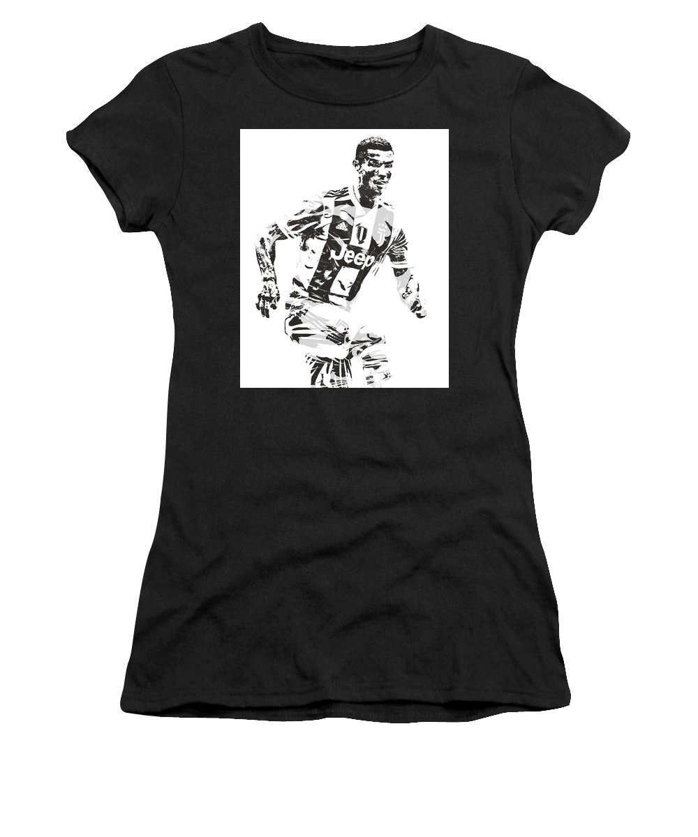 meet 4125e 7eaa0 Cristiano Ronaldo Juventus Pixel Art 3 Women's T-Shirt