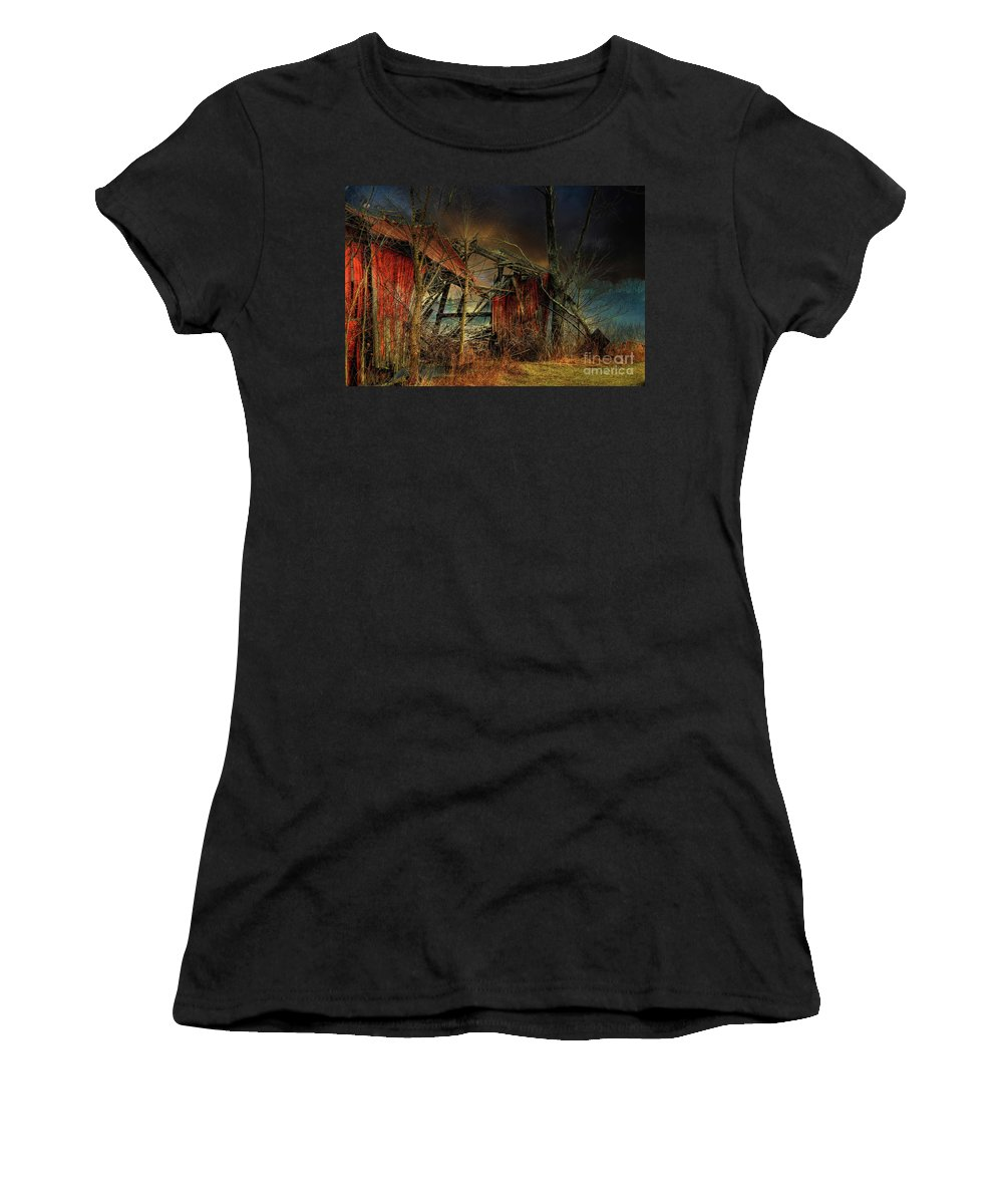 Barn Women's T-Shirt (Athletic Fit) featuring the photograph End Times by Lois Bryan