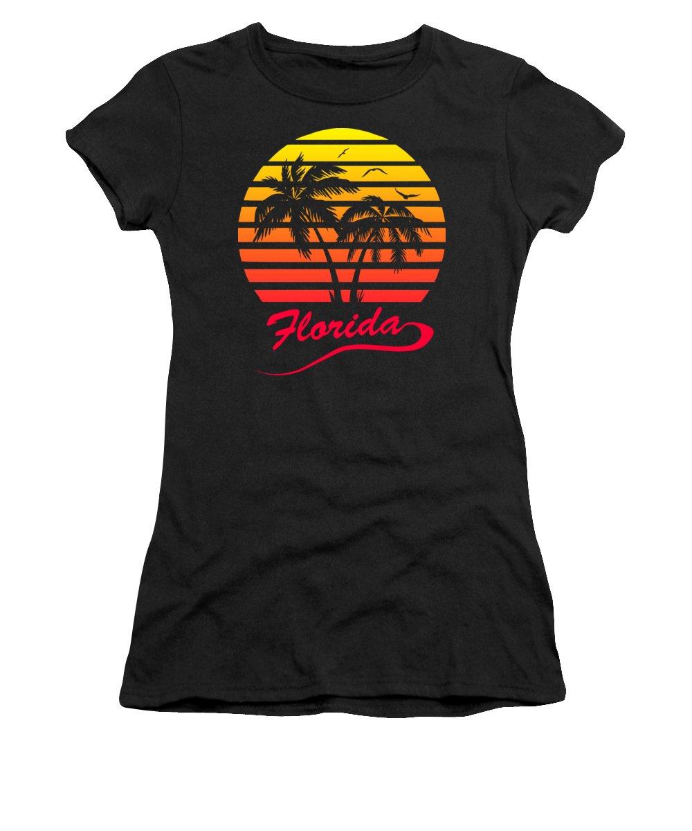 Florida Women's T-Shirt featuring the digital art Florida Sunset by Filip Schpindel