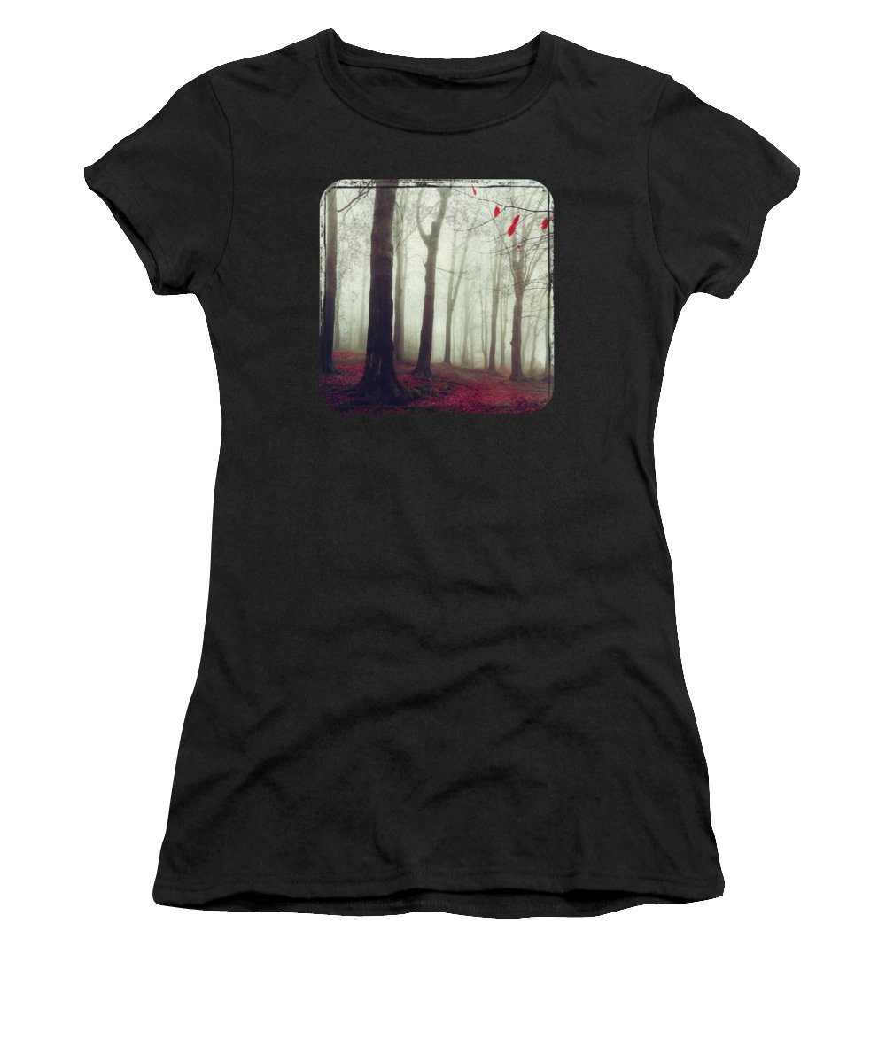 Foliage Women's T-Shirt featuring the photograph Forest In December Mist by Dirk Wuestenhagen