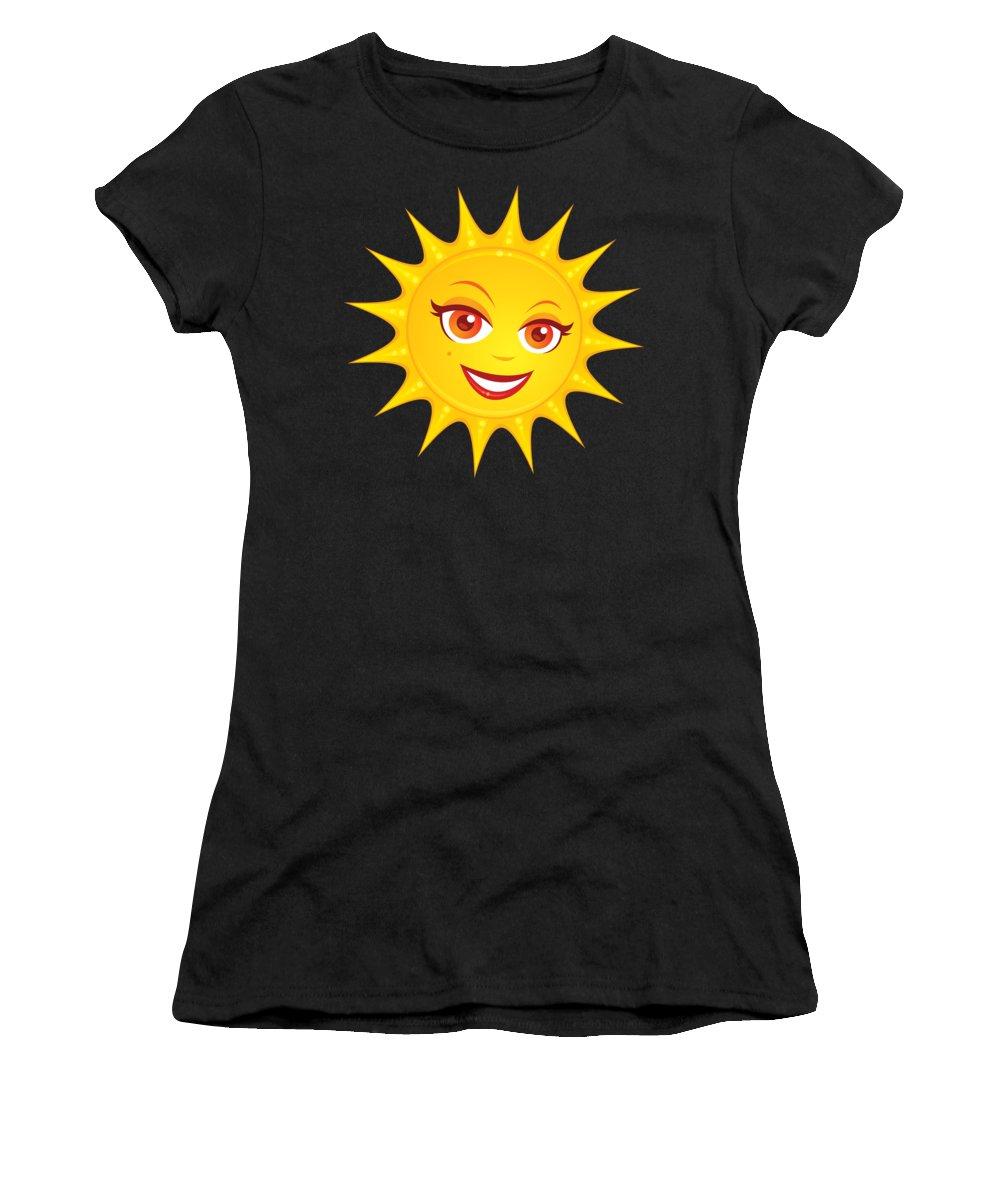 Beach Women's T-Shirt featuring the digital art Hot Summer Sun by John Schwegel