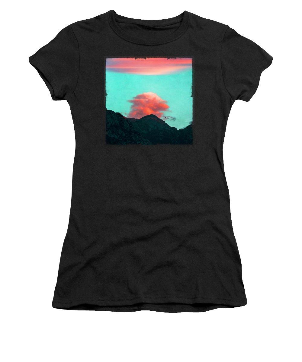 Morning Women's T-Shirt featuring the photograph Mountain Daybreak by Dirk Wuestenhagen