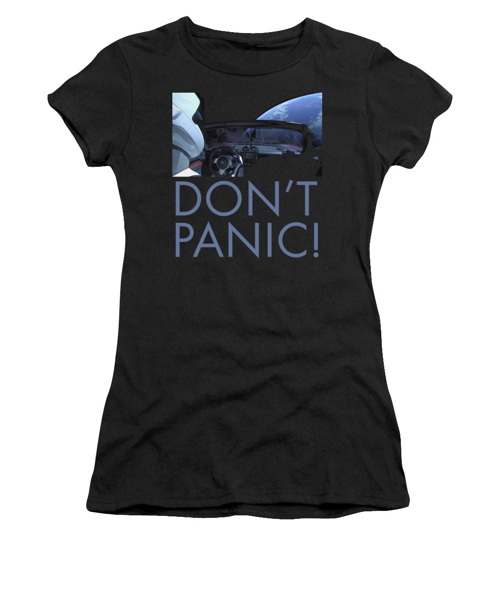 Dont Panic Women's T-Shirt featuring the photograph Starman Don't you Panic Now by Filip Schpindel