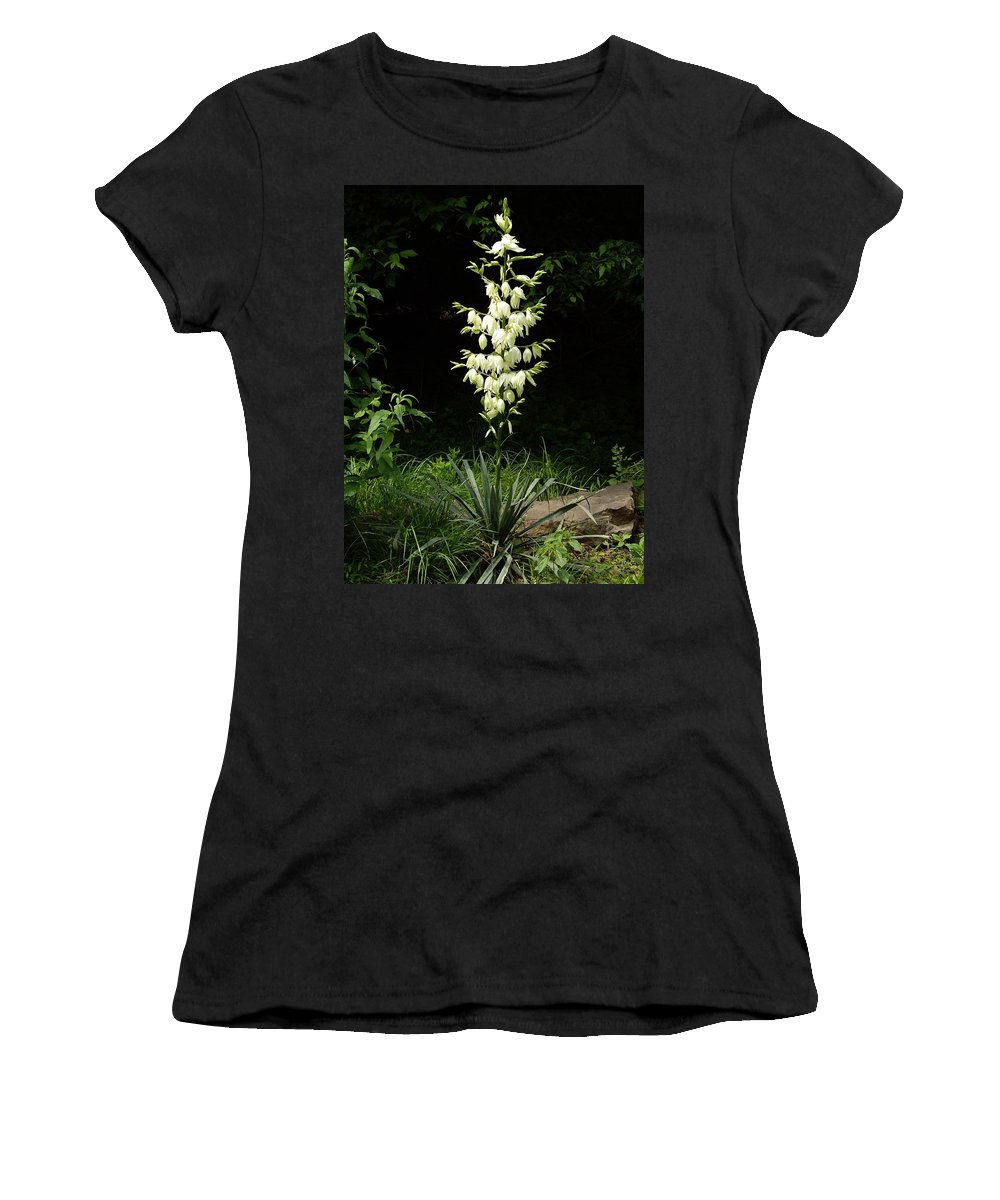 Yucca Women's T-Shirt featuring the photograph Yucca Blossoms by Nancy Ayanna Wyatt